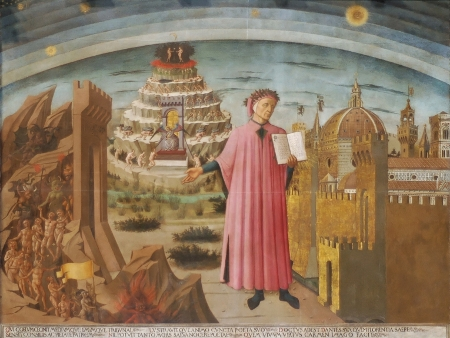 Dante and his poem; by Domenico di Michelino; Santa Maria del Fiore dome; Florence; Italy