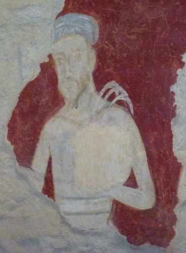 Flagellant; fresque de l'église San Bevignate; photo JP SCHMIT